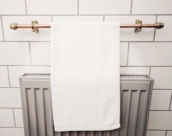 QuirkHub® Indynut Copper Towel Rack   Towel Rail   Towel Bar   Hand Towel Holder   Bath Towel Rail   Bathroom Towel Rack   Copper Towel Bar