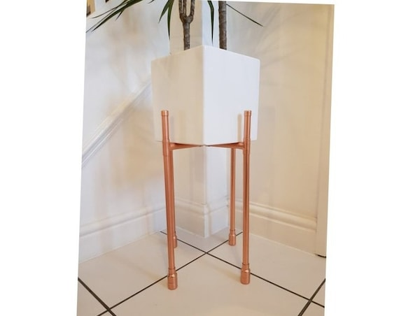 Modern Copper Plant Stand Higher Elevation