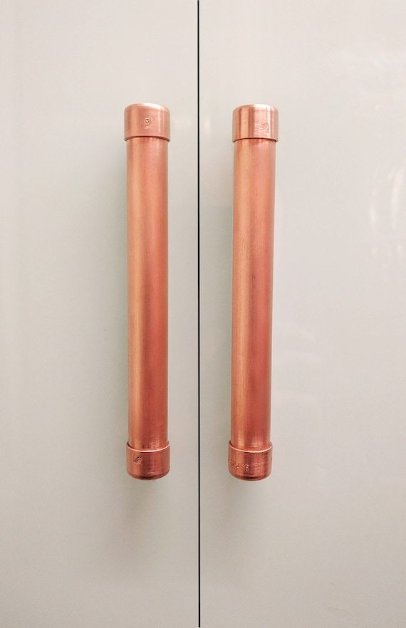 QuirkHub® Low Profile Copper Large Bar Pull Handle | Cabinet Hardware |  Pull Handle Bar | Handle | Kitchen Door Handle From QuirkHub On Etsy Studio