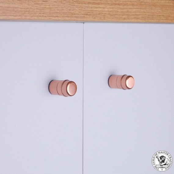 Copper Button Knobs (Ridged Small)