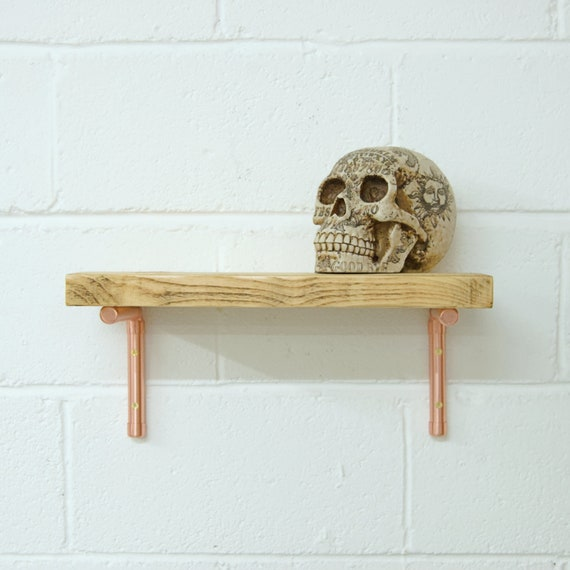Copper Pipe Shelf Brackets | Copper Shelving | Copper Shelf Bracket