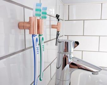Copper Toothbrush Holder & Razor Holder