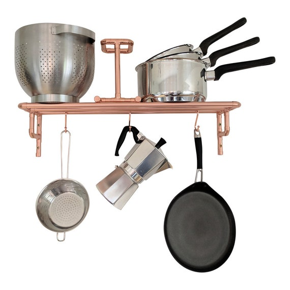 Copper Pot And Pan Rack Wall Mounted