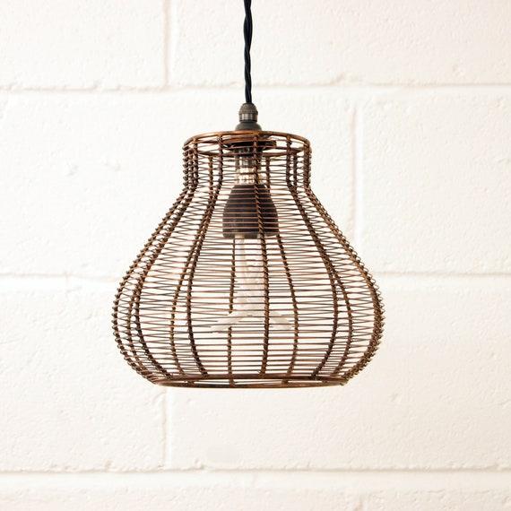 Bell Cage Retro Pendant Hanging Light Shade
