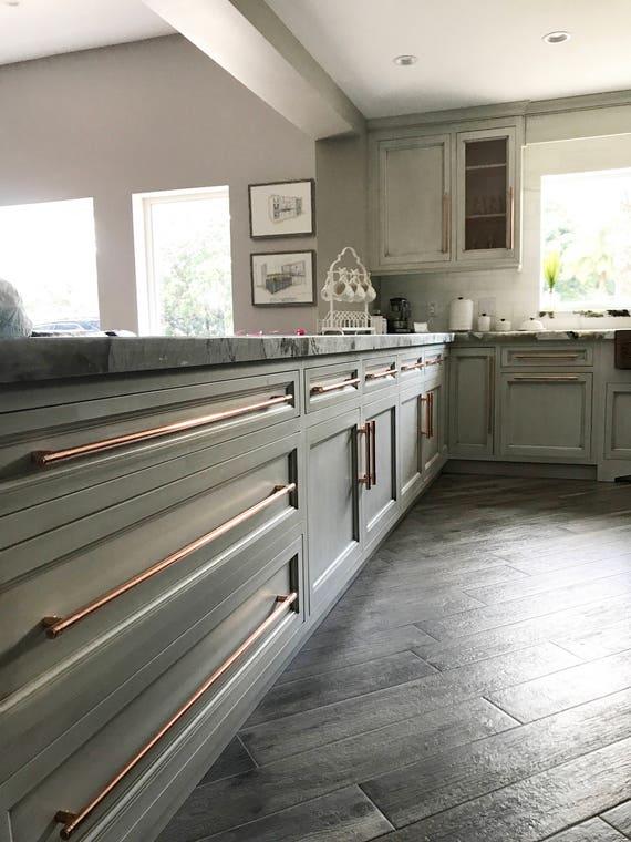 Kupfer-Schrank Griffe Küche Tür Kupfer Griff | Etsy