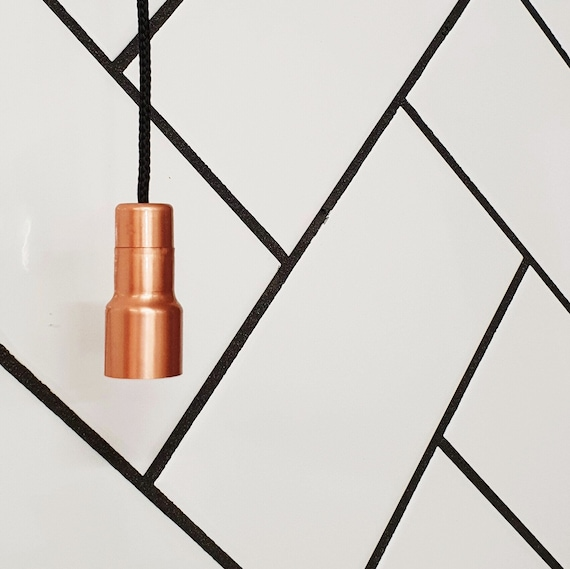 Fluted Copper Light Pull