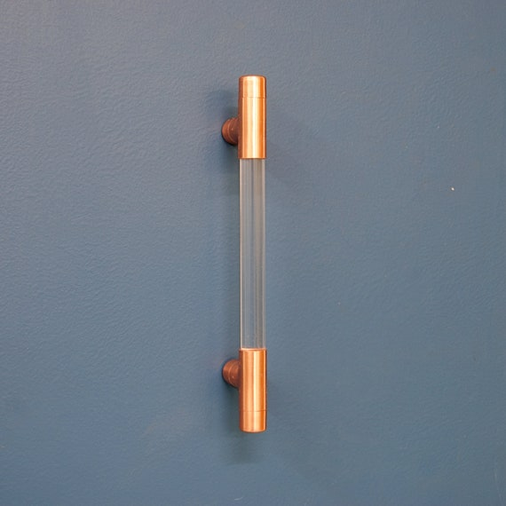 Copper And Clear Acrylic Drawer Handles