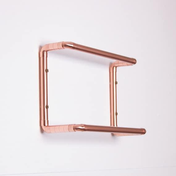 Modern Double Copper Towel Rail