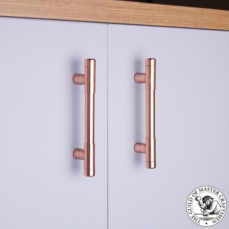 Copper T Bar Kitchen Door Handle | Kitchen Drawer Handle | Copper Pull  Handle |