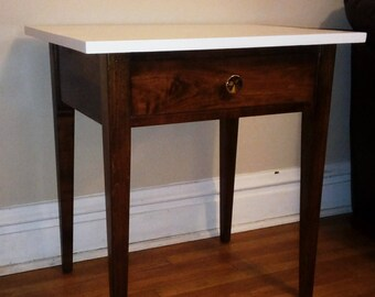 Custom Mid-Century End Table