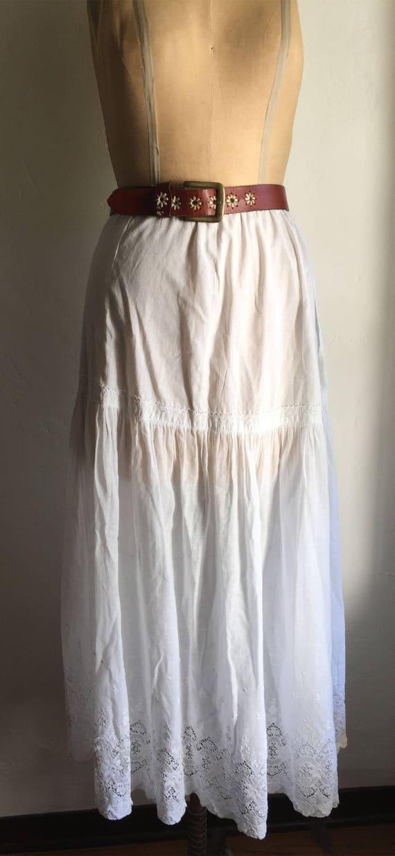 Vintage Antique| Boho Hippie Edwardian White Cotto