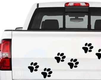 Sticker for Car Truck Bumper Wall Window Laptop Decor WOLF PAW Vinyl Decal
