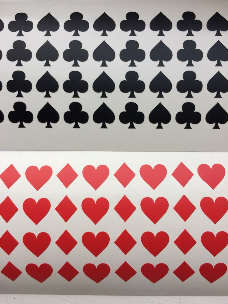 32 Playing Cards Symbols Vinyl stickers poker card suits image 0