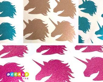 Set 24 Gold Unicorn Glitter Stickers, Unicorn Party stickers, Unicorn stickers, Unicorn Envelope Seals