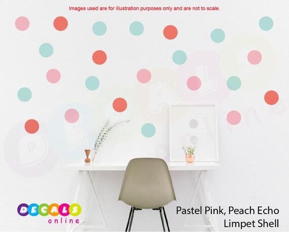 Set 100 Polka Dots Wall Stickers Polka Dots Wall Art Round   Etsy