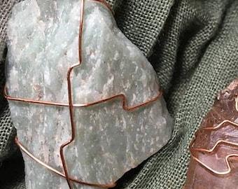 Amazonite Wire Wrapped Pendant