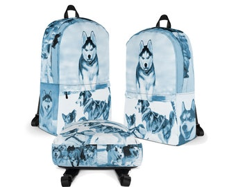 Husky Backpack, Siberian Husky, Cute Huskies, Husky Lover Gift, Husky Mom and Husky Dad Gift Idea, Dog Lover Gift, Siberian Husky Gift