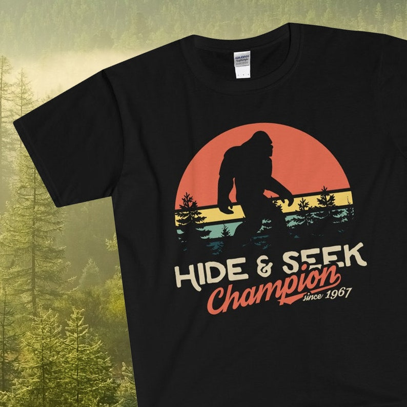 e41ba2ac Bigfoot Unisex Shirt by Xeire Hide and Seek Champion since | Etsy