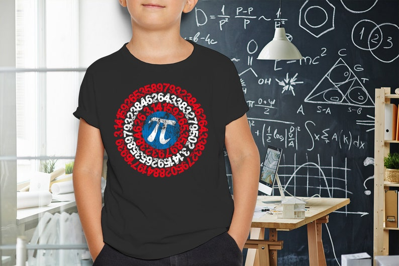 23bc90e6f Math Youth 8yr Shirt Nerdy Captain Pi Tshirt Physics | Etsy