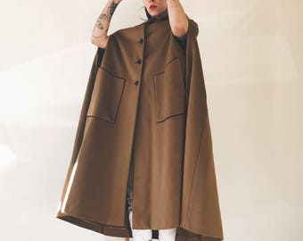 Vintage Cedrics Elegant Wool Cape Coat