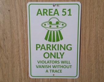 Area 51 Parking Metal Sign