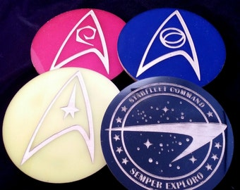 Colorful Star trek TOS Deluxe Insignia Coasters - Set of 4