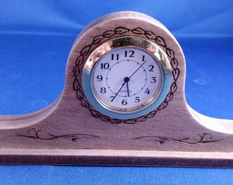 Miniature Desktop Tambour Clock with Quartz Movement
