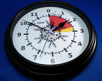 Skydiver's Altimeter Wall Clock With Action!