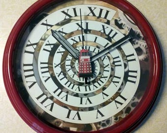 Red Dalek Clock with Time Vortex