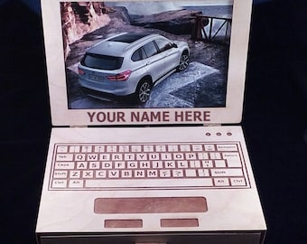 Personalized Laptop Picture frame/Jewelry box