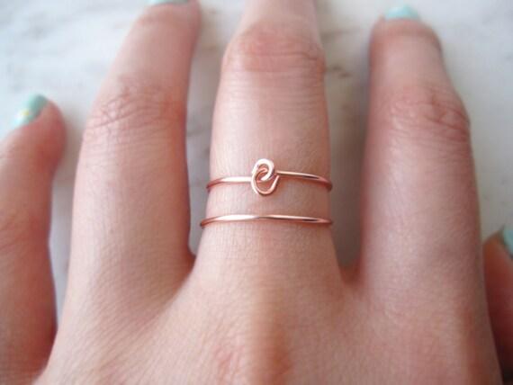 reversible ring wire ring Rose Gold X ringrose gold criss cross ring delicate ring cross ring dainty ring x ring knot ring gift