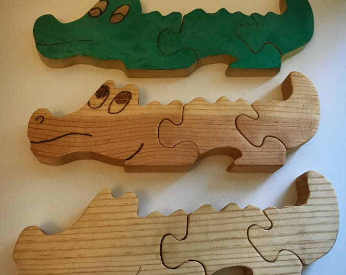Alligator Wooden Puzzle - Shipping Included