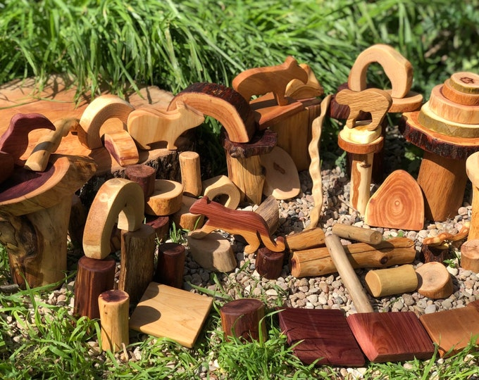 Rain Forest Tree Blocks 75 pc