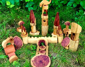 Castle Tree Block Castle Set 50pc