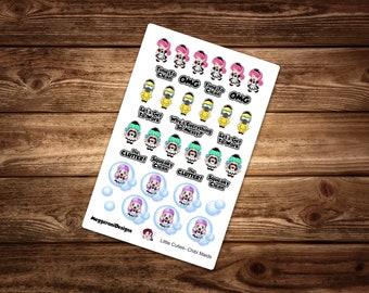 Maid Decorative Planner Stickers  / Happy Planner / Erin Condren