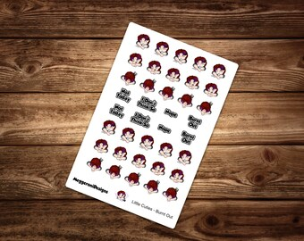 Tough Day Decorative Planner Stickers  / Happy Planner / Erin Condren