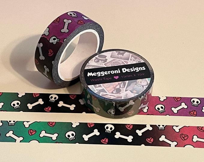 Featured listing image: Walking CutieZ Skulls & Hearts Washi Tape Roll