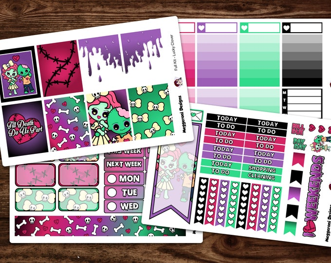 Featured listing image: Full Walking CutieZ Planner Stickers / Weekly Kit/ Summer Sticker Set / Erin Condren Vertical Layout /Happy Planner