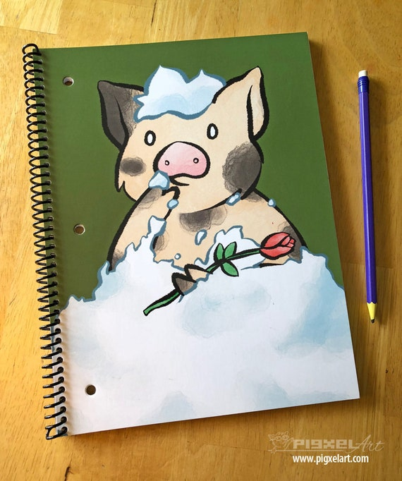 Notebook 70 Sheet College Ruled with Microperf Cute Little Pig Piggy  Notebook Whipped Cream and Other Delights Herb Alpert Sukoshi Buta