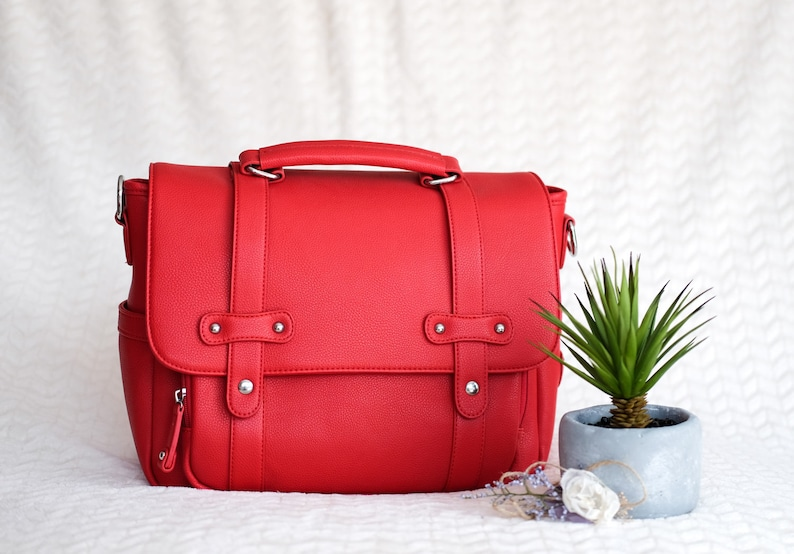 2-3 Lens RED DSLR Camera Bag Stylish Women Camera Bag Travel image 0