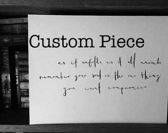 Custom Hand Lettered Piece