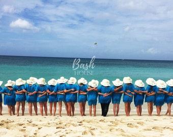 Bachelorette Party Hats - Bridesmaid Hats - Bachelorette Cruise - Floppy Beach Hat - Mrs. Beach Hat - Personalized Beach Hat-Bridesmaid Gift