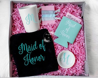 Bridesmaid Proposal Box - Bridesmaid Gift Box - Wedding Party Thank You Gift - Wedding Favor - Bachelorette Party Favor - Bachelorette Party