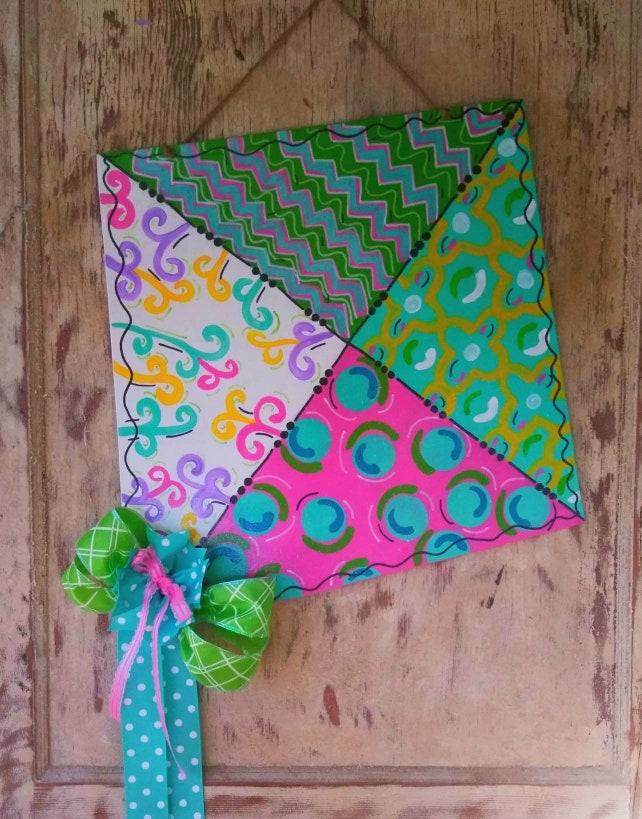 Spring Door Hanger Summer Door Decor Kite Door Hanger | Etsy