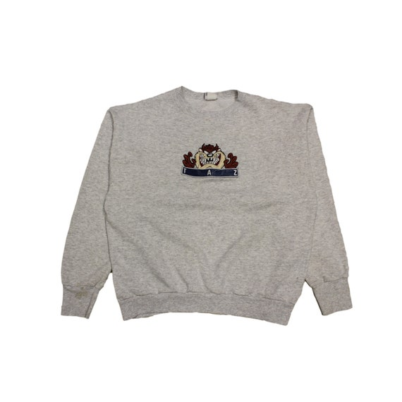 Vintage Embroidered Looney Tunes Taz Crewneck