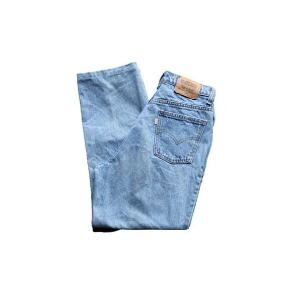 Vintage High Waisted Orange Tab Jeans