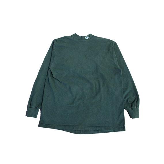 Vintage Green Packers Mock Neck