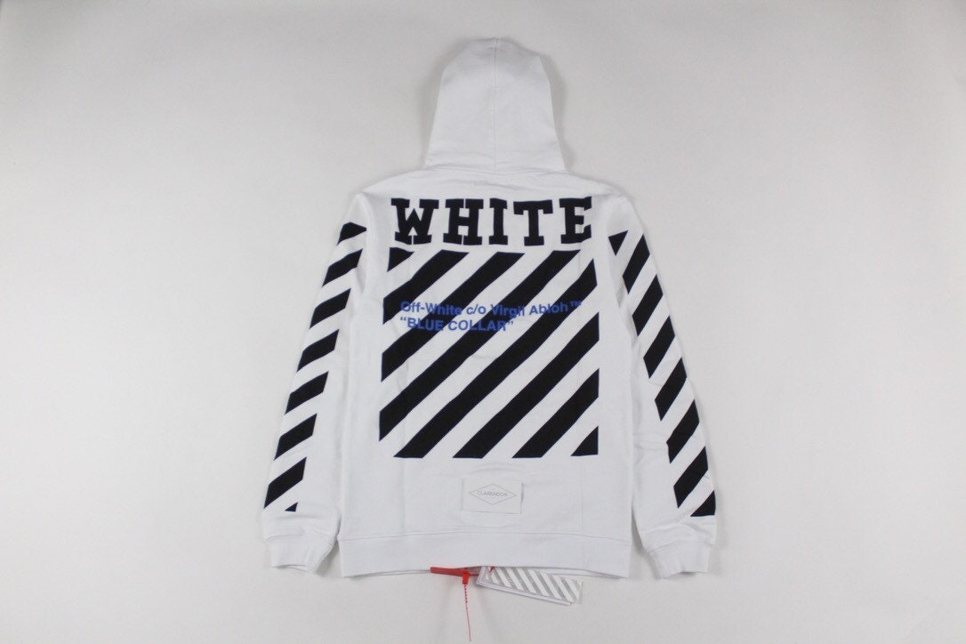 Off-White Blue Collard Hoodie  f4d549b75