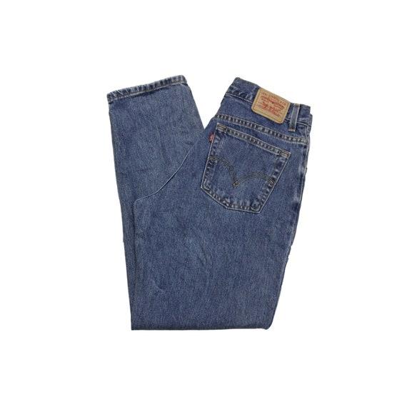 Vintage Levis 550 High Waisted Straight Leg Jeans