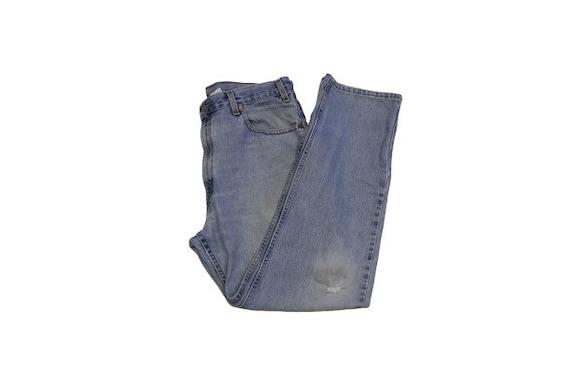 Vintage Distressed Levi's 505 Straight Leg Jeans